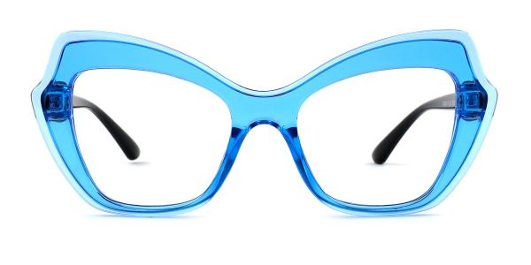 4361 Alfy Butterfly blue glasses