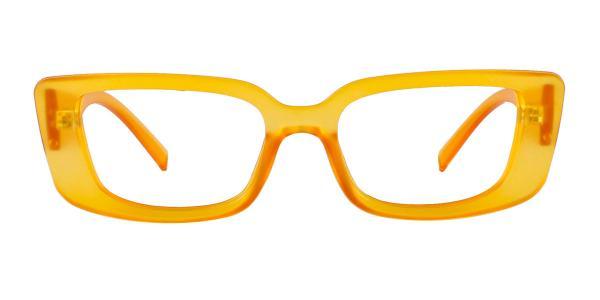 4382 Bess Rectangle orange glasses