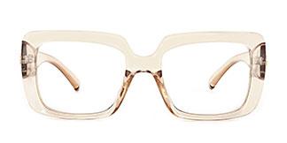 4384 Niki Rectangle brown glasses