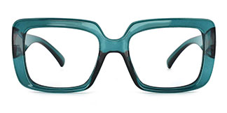 4384 Niki Rectangle green glasses