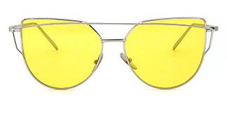 44475 Odelyn Cateye silver glasses