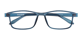 5015-1 Wyatt Rectangle blue glasses
