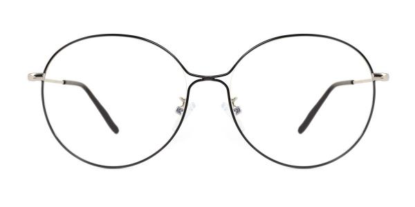 5017 Theresa Round black glasses
