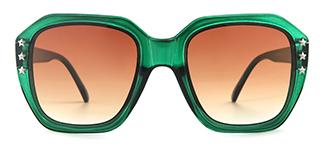 5107 Antony Geometric green glasses