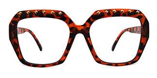 5113 Denice Rectangle tortoiseshell glasses