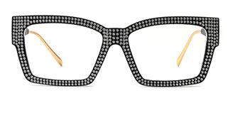 51261 Bethann Rectangle black glasses