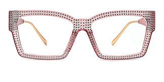 51261 Bethann Rectangle pink glasses