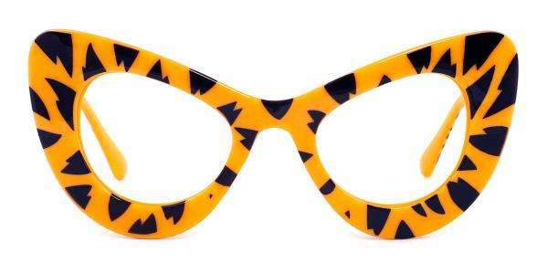 5141 Ruby Cateye yellow glasses