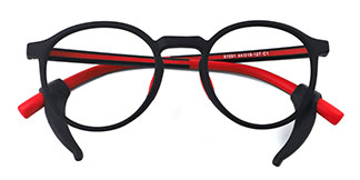 51591 Abigail Round red glasses