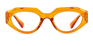 51821 Annabelle Geometric orange glasses