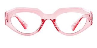 51821 Annabelle Geometric pink glasses