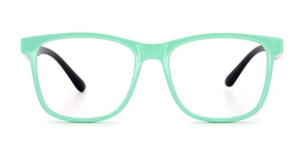 5309 Fronde Rectangle green glasses