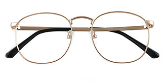 5329 Rae Round silver glasses