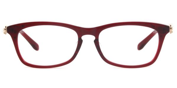 5371 Lauryn Rectangle red glasses