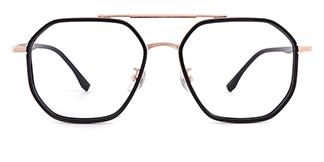 55092 Griselda Aviator black glasses