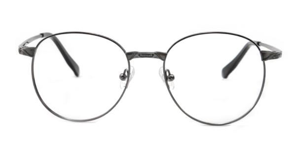 55814 Leon Round black glasses