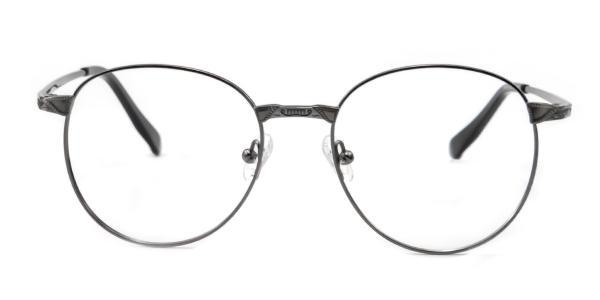 55814 Leon Round silver glasses