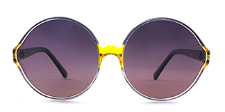 55942 Barbra Round yellow glasses