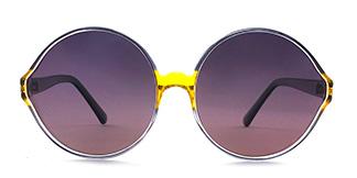 55942 Barbra Round yellow glasses