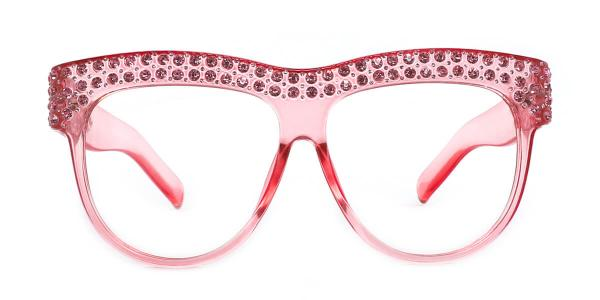 5701 Paula Oval pink glasses