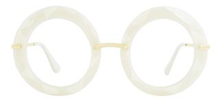5710 Eunnice Round white glasses