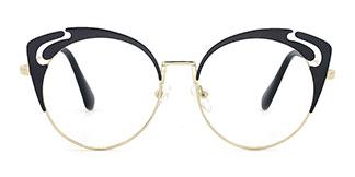 578 Adena Cateye black glasses