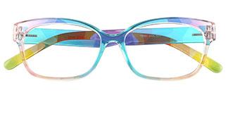 5831 Evalyn Rectangle multicolor glasses