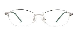 6020 Kiran Oval silver glasses