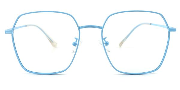 60227 Ann Geometric blue glasses