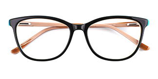 6034 Linsey Rectangle pink glasses