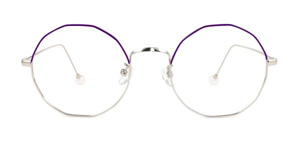 6063 Skye Geometric purple glasses