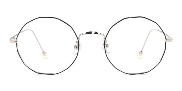6063 Skye Geometric silver glasses