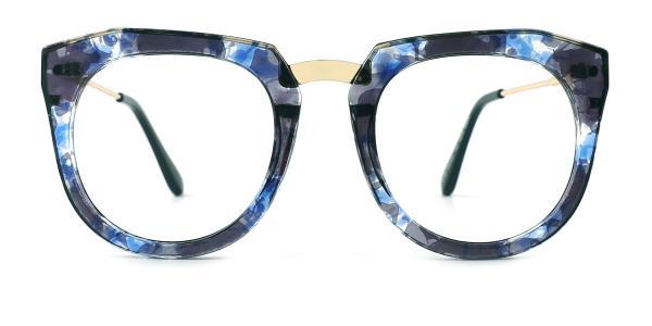 6185 Alyssa Rectangle blue glasses