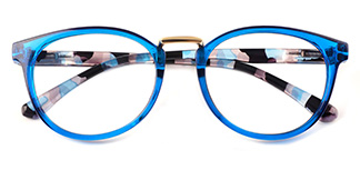 6235 Waltraud Oval blue glasses
