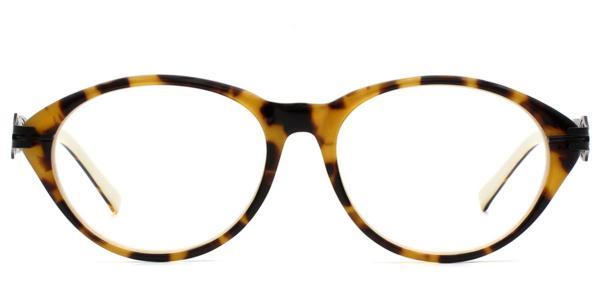 6305 Weller Oval tortoiseshell glasses