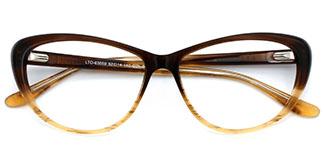63059 Auburn Oval brown glasses