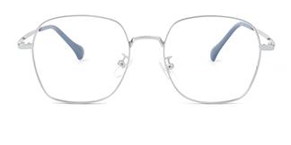 65056 Delma Geometric silver glasses