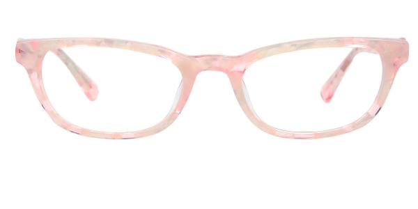 6520 Hughes Rectangle pink glasses