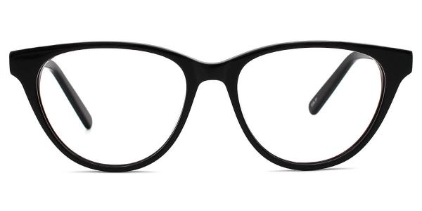 660003 Babb Oval black glasses