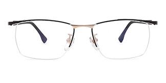 66022 Bettye Rectangle black glasses