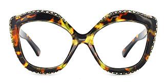 66322 Kathy Cateye tortoiseshell glasses