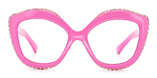 66322 Kathy Cateye pink glasses