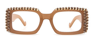66612 Paisleigh Rectangle pink glasses