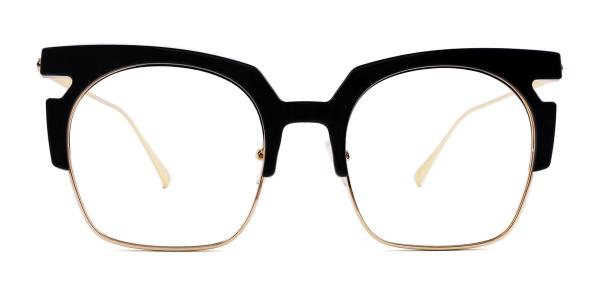 6751 Wilma Rectangle black glasses