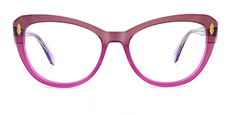 6884 miya Cateye purple glasses