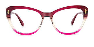 6884 miya Cateye red glasses