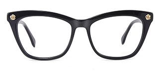 6886 maxine Rectangle black glasses