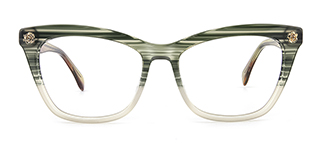 6886 maxine Rectangle green glasses