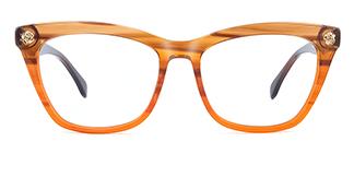 6886 maxine Rectangle orange glasses