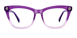6886 maxine Rectangle purple glasses
